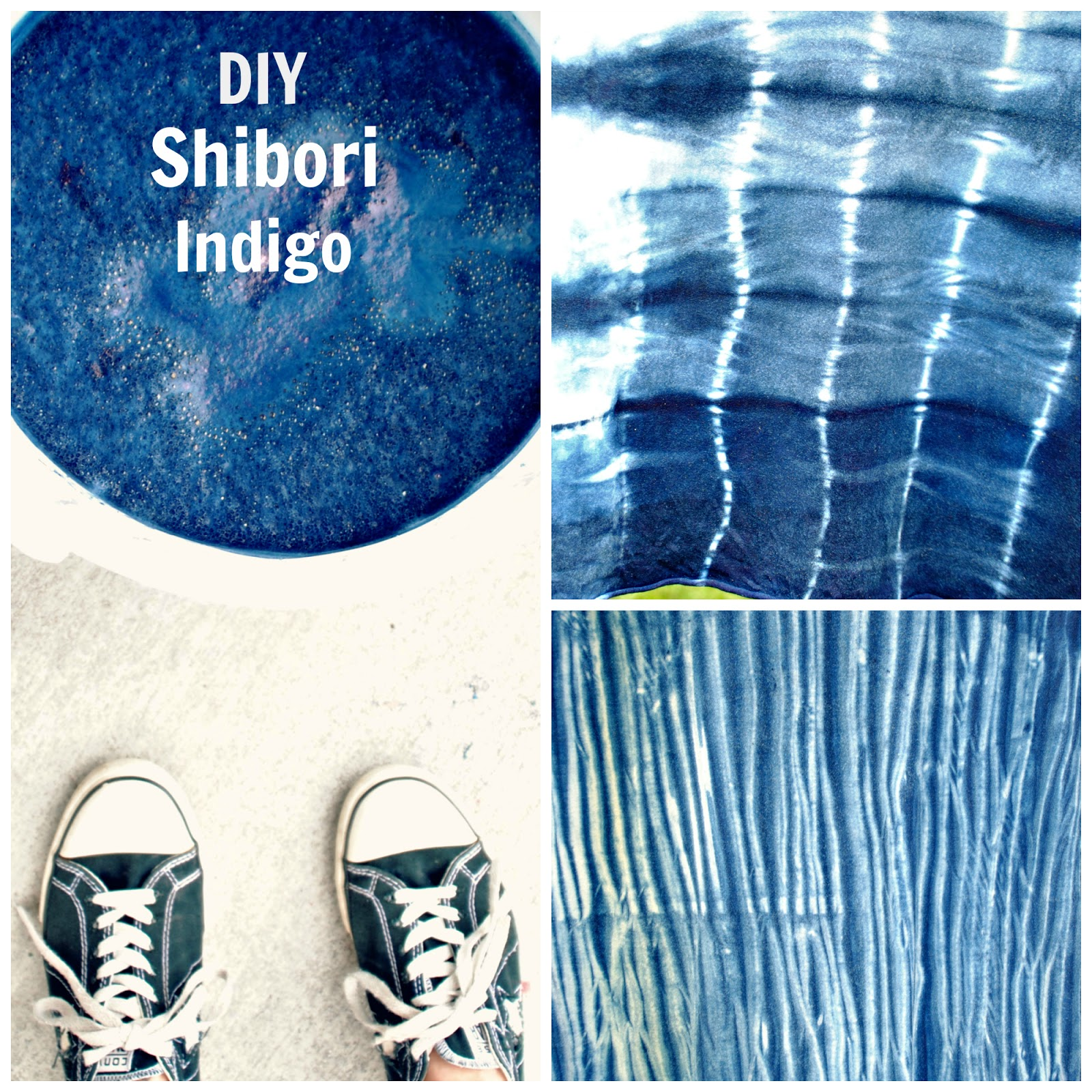 trash to couture diy shibori with indigo