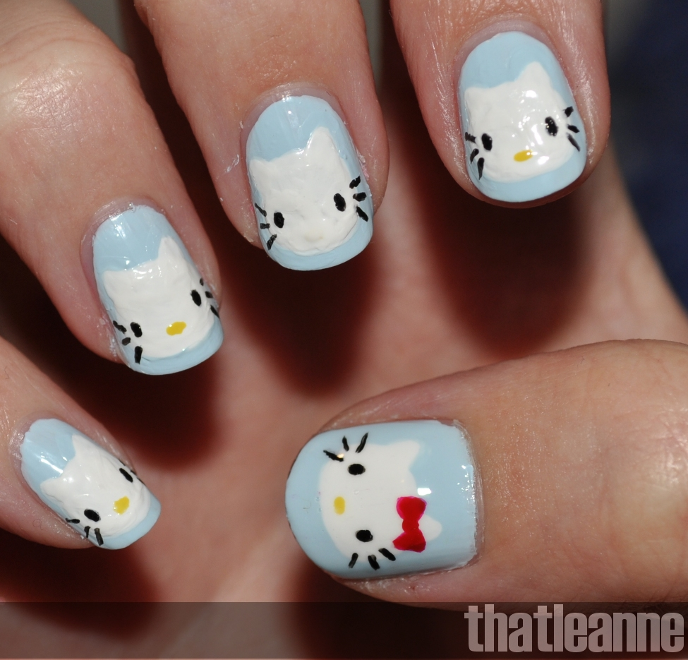 Thatleanne Chococat Nail Art: Thatleanne: Hello Kitty Nail Art With Essie Wedding 2011