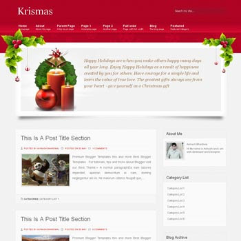 Krismas blogger template. Christmas template for blogger template