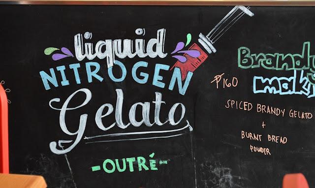 OUTRE - Liquid Nitrogen Gelato: A whole new version of gelato