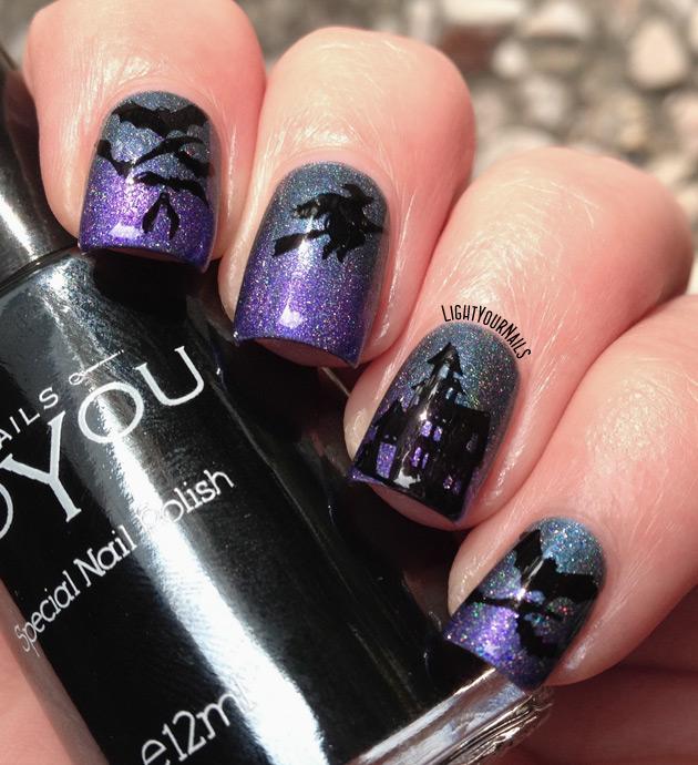Halloween holo mani