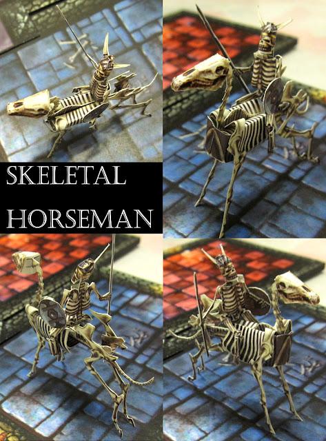 Miniaturas recortables Skeletal+horseman