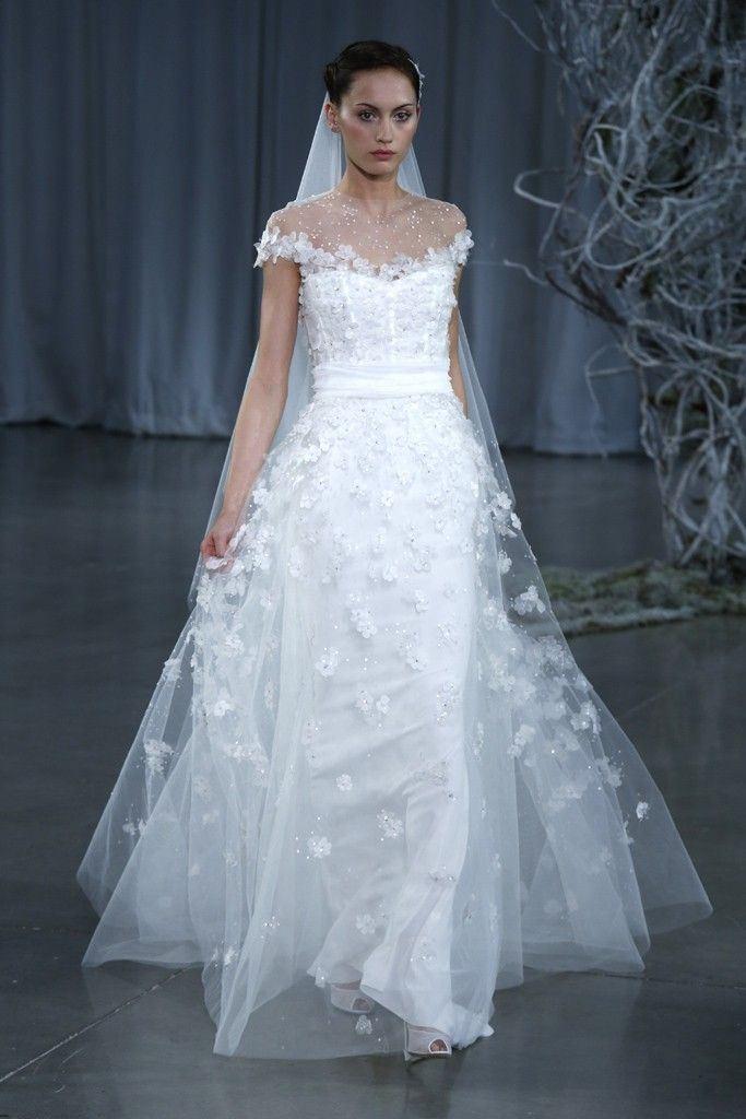 Monique lhuillier 2013 fall collection for Wedding dress monique lhuillier
