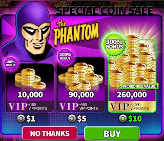 Special coin sale at The Phantom Hit It Rich! Casino Slots