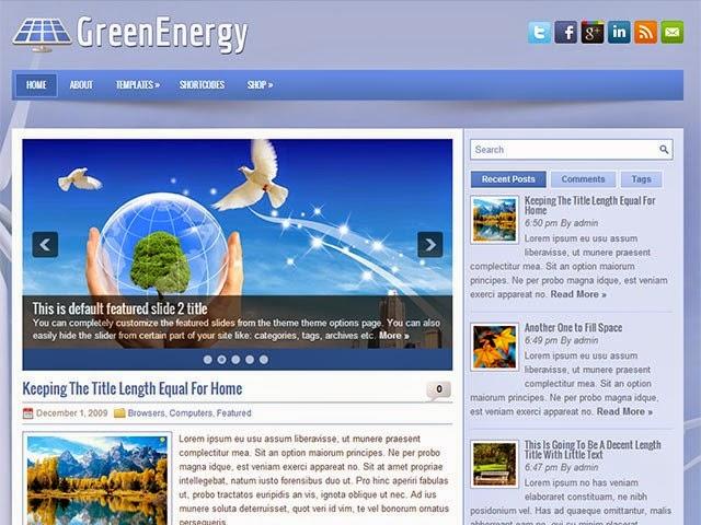 GreenEnergy - Free Wordpress Theme