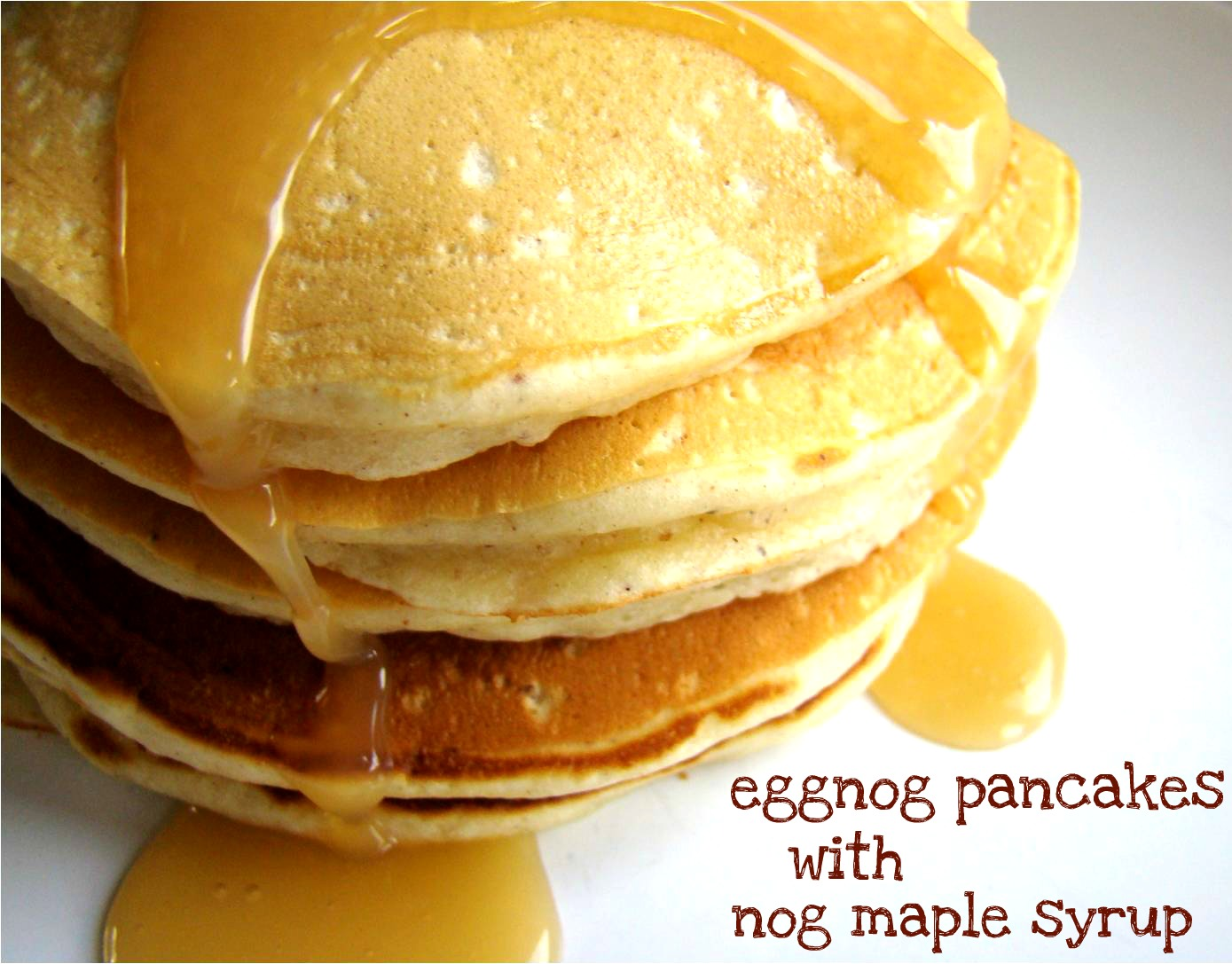 Eggnog Pancakes Recipe — Dishmaps