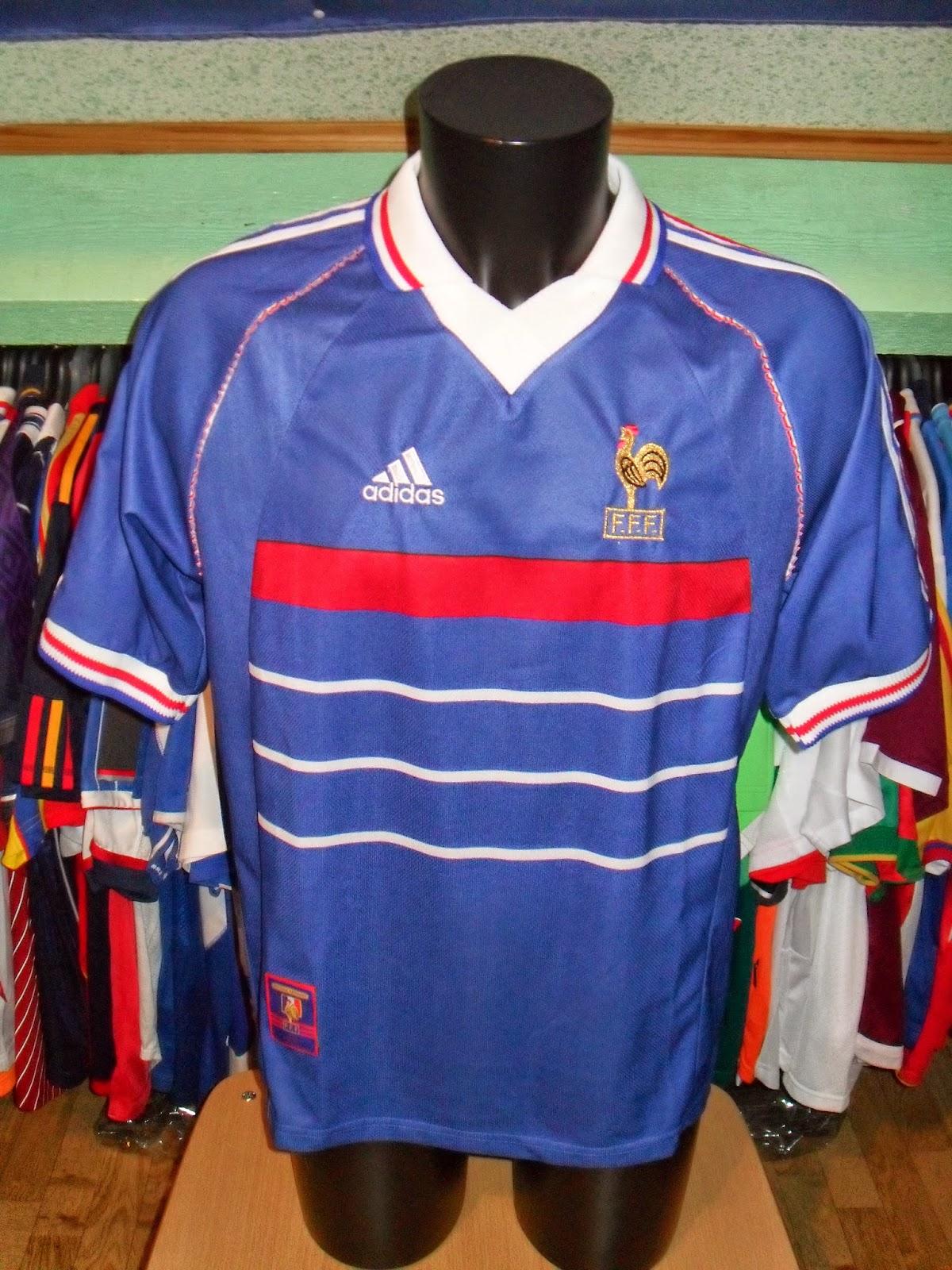 Mon grenier maillots france 1984 1998 2000 - Equipe de france 1982 coupe du monde ...