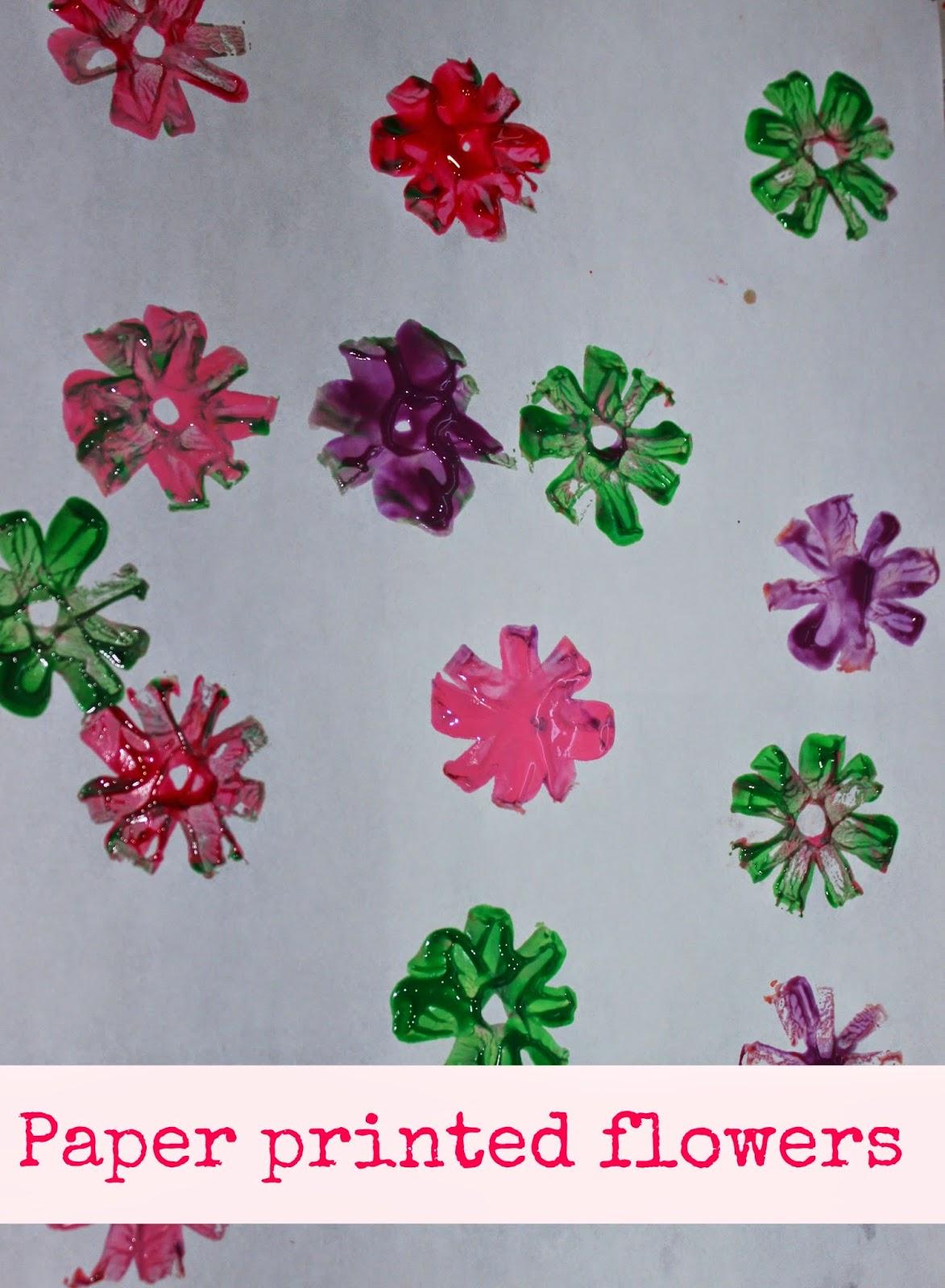 Paper Flower Stamping Sparklingbuds