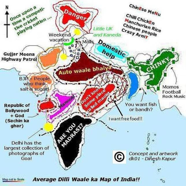Funny INDIAN MAP