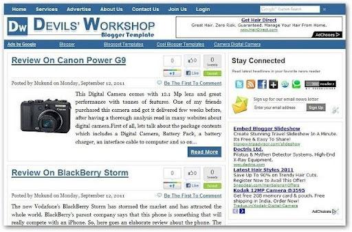 Free SEO Friendly & Adsense Ready Blogger Template Devil\'s Workshop ...