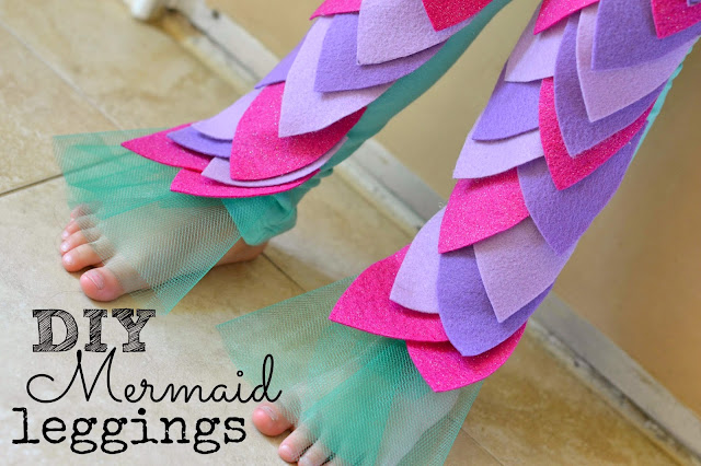 Mommy Testers, DIY no sew Mermaid leggings