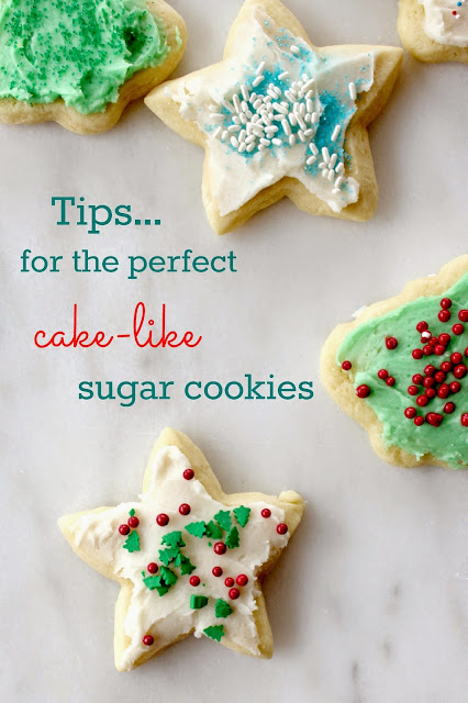 tips for the perfect cake like sugar cookies