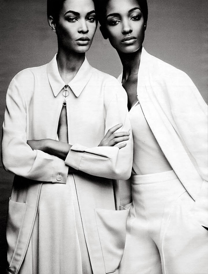 JOAN SMALLS & JOURDAN DUNN BY PATRICK DEMARCHELIER FOR W MAGAZINE FEBRUARY 2014