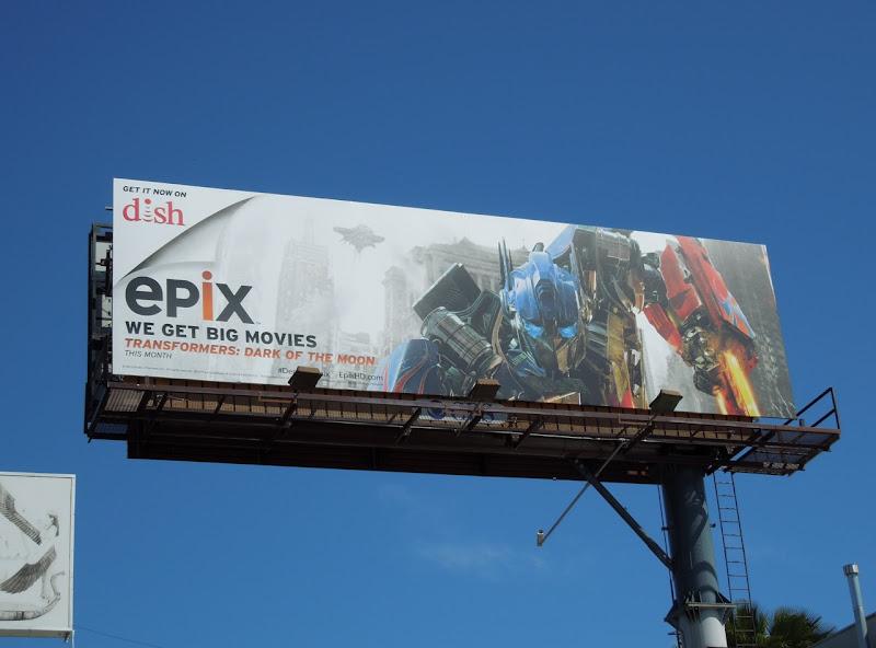 Epix Transformers 3 billboard