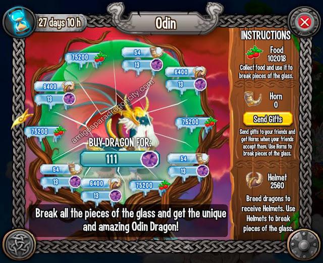 imagen de las tareas y objetos magicos del cuarto juego de la isla vikingo de dragon city