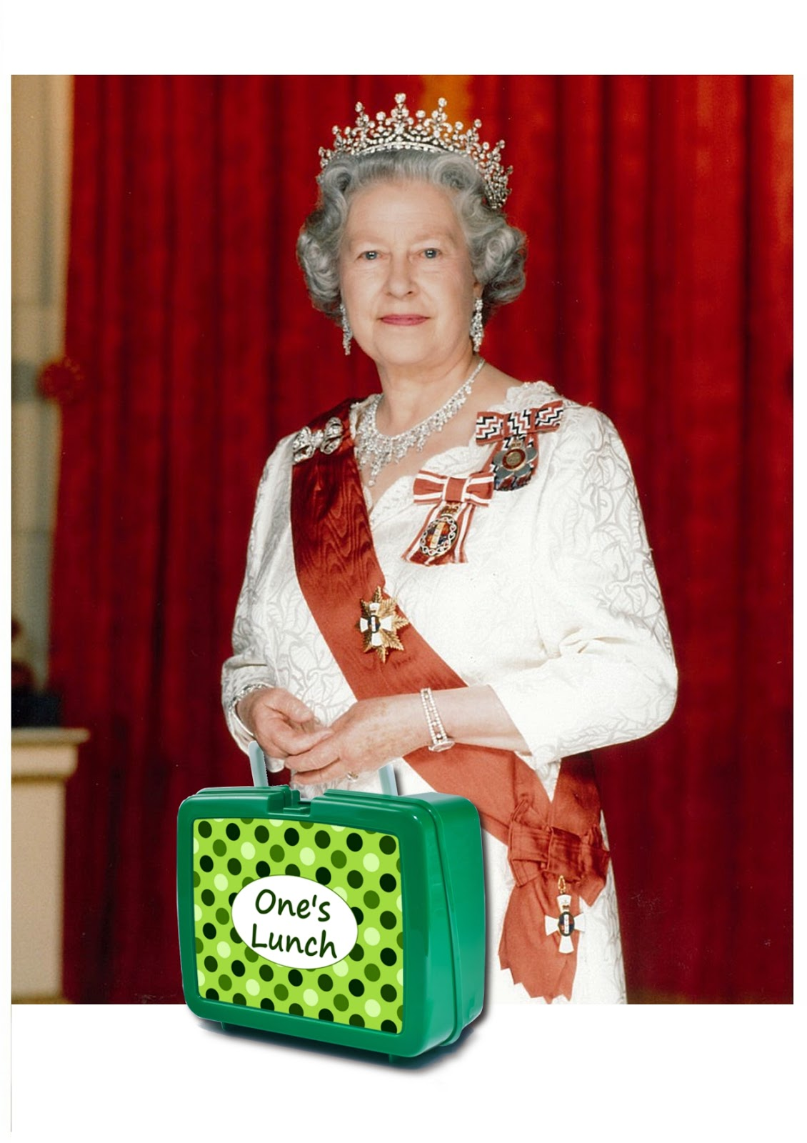 queen and a spotty lunch box