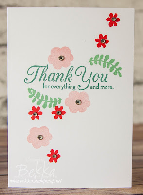 Spring Colours Thank You Card made using supplies from Stampin' Up! UK
