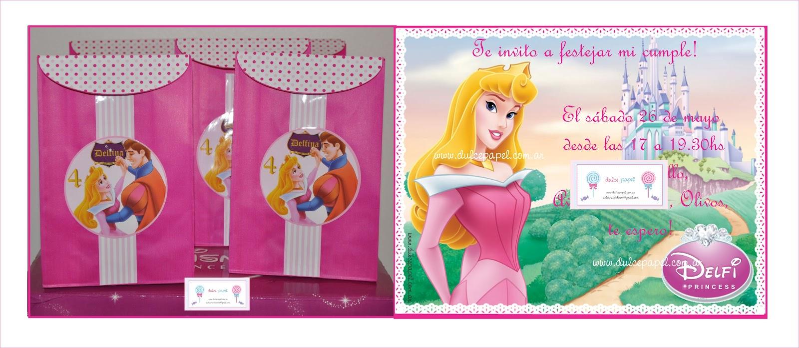 Invitaciones De La Princesa Aurora