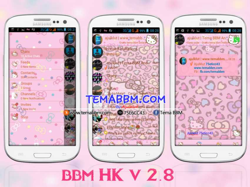 Tema BBM Hello Kitty Versi 2.8.0.21