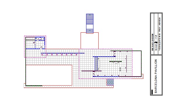 Barcelona Pavilion Floor Plan Dimensions Barcelona Pavilion Arch 340 Visualization 3 L Fall