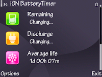 ION Battery Timer v1.05 S60v3,v5,Unsigned Cracked FoXPDA