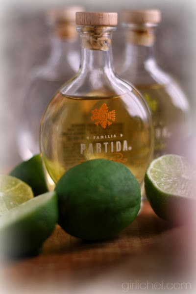 Partida Tequila and Sparkling Pomegranate Tequila from www.girlichef.com