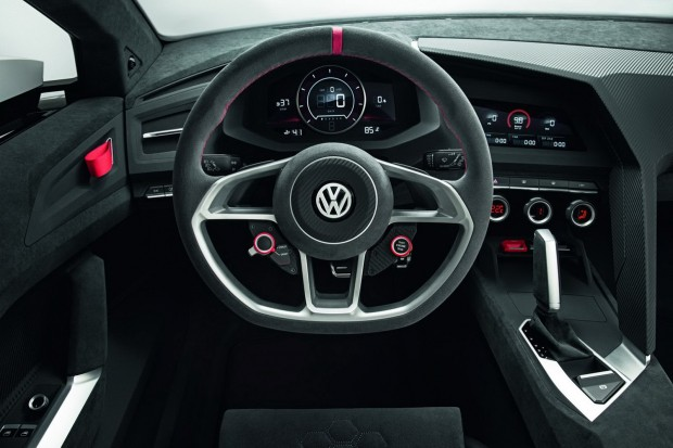 a car Volkswagen Golf Design Vision GTI 2013