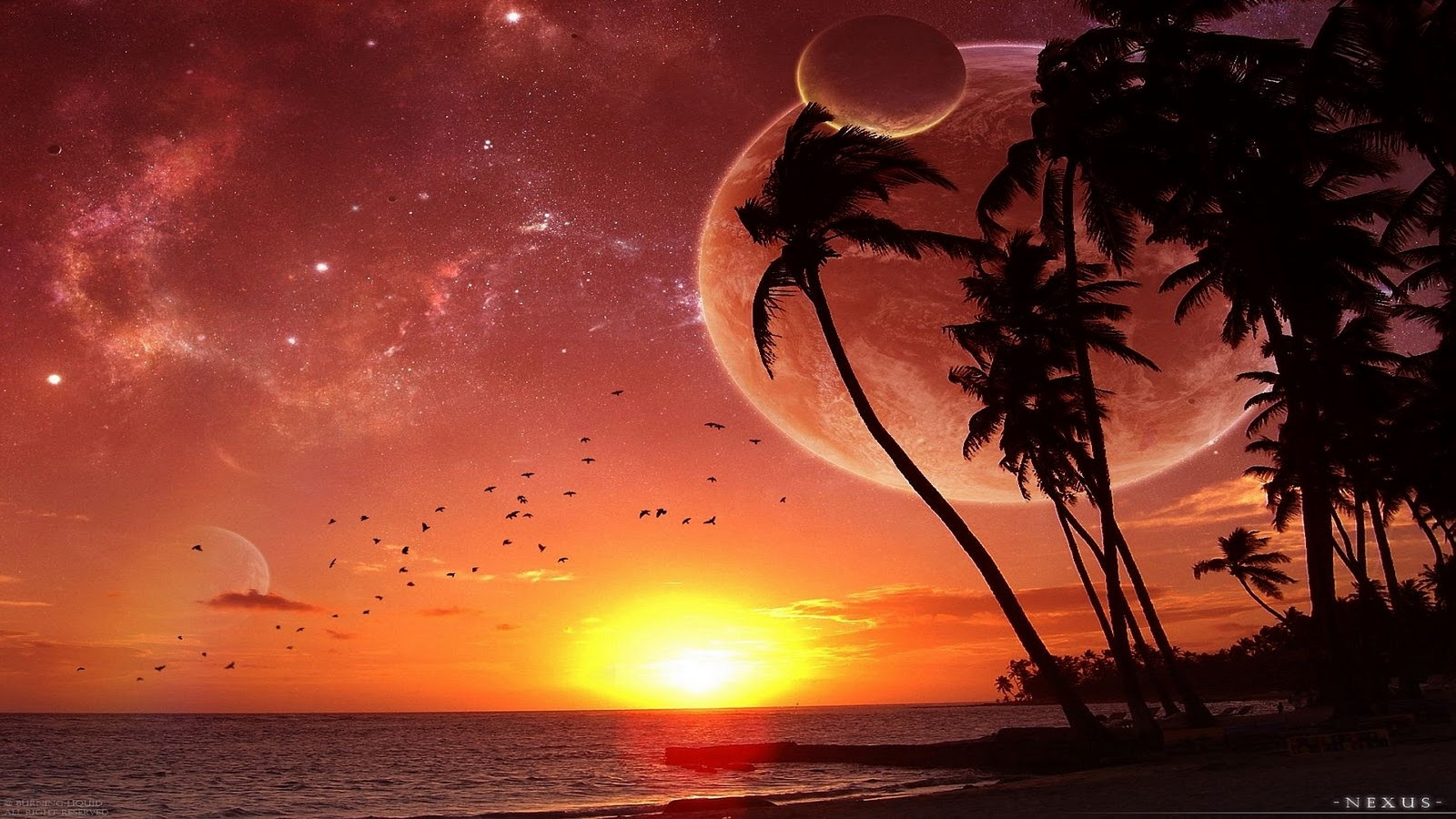 WallpapersKu: Beautifull Sunset Wallpapers