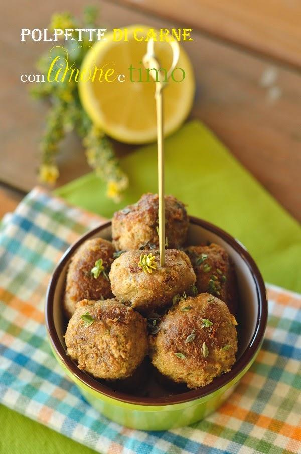 Polpette di carne finger al limone e timo | Cucina Scacciapensieri