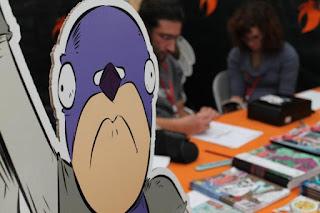 Pigeon-Man! allo stand di Cyrano Comics a Lucca 2012