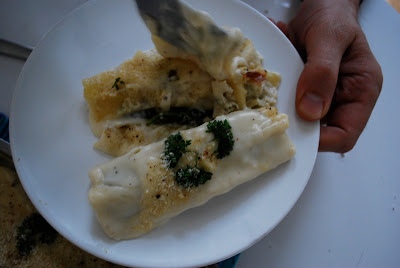 easiest recipe cannelloni spinach ricotta cheese parmesan italian dish sauce
