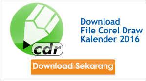 Download File CDR Kalender 2016