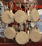 Mini-Drum and Drum-stick Earrings