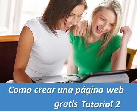 Como crear una página web gratis Tutorial 2
