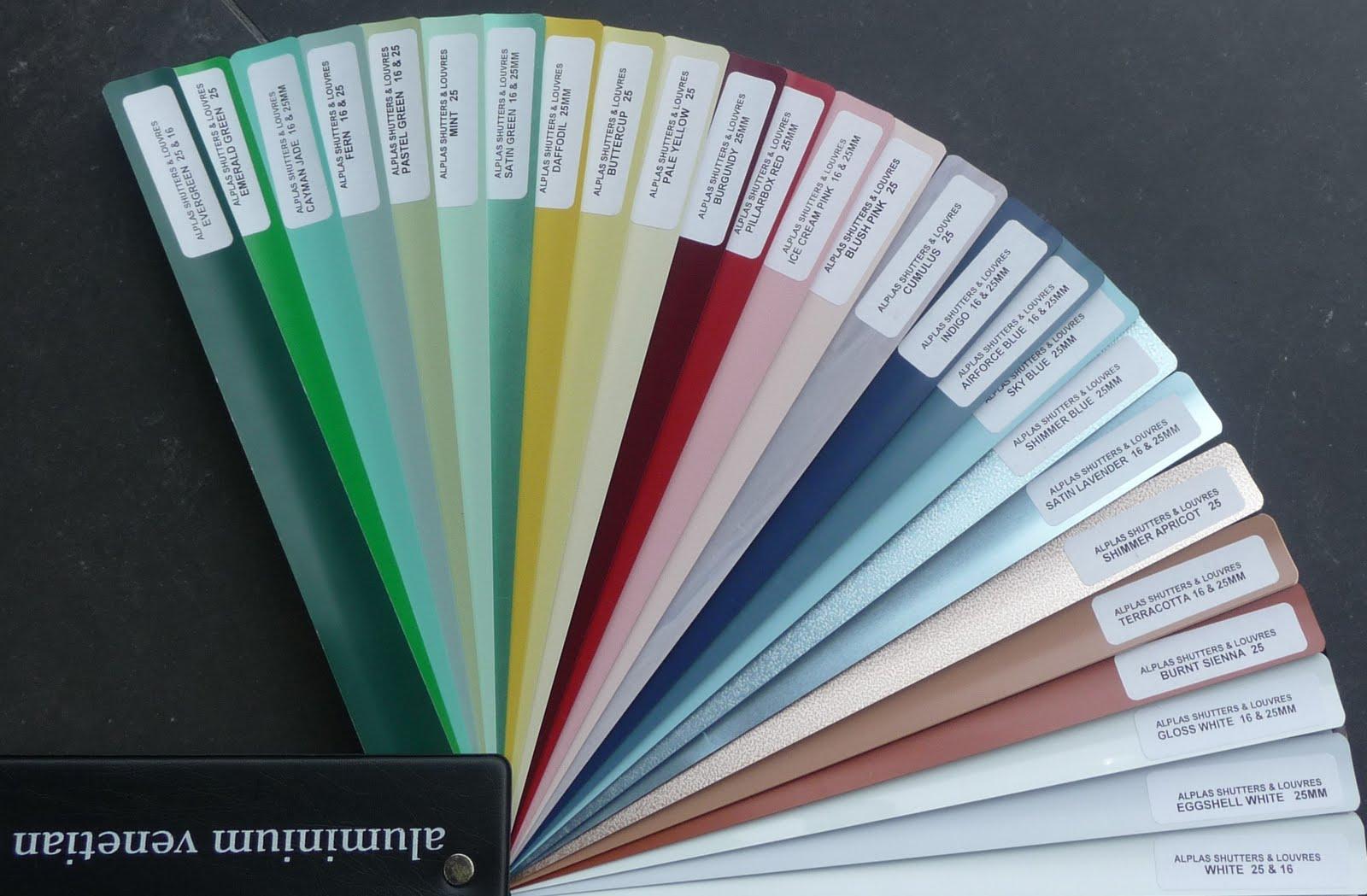 Alplas Blinds Louvres Aluminium Venetian Blind Colour Range From