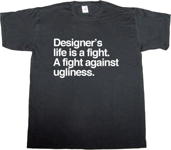 design designer graphic design brilliant sentence massimo vignelli tribute t-shirt ephemeral-t-shirts