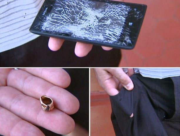 Nokia Lumia 520 'đỡ đạn', cứu sống chủ nhân