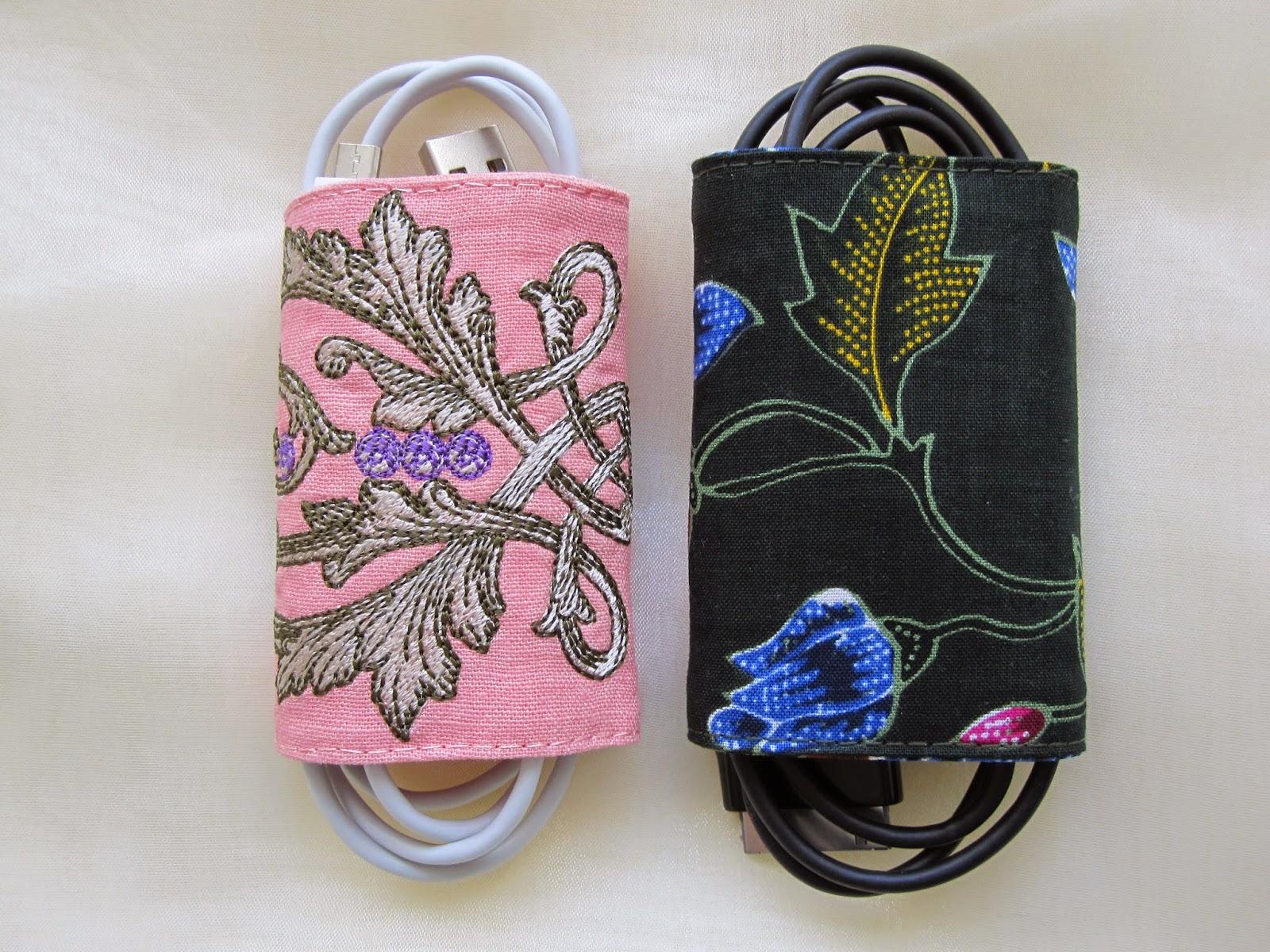 Borduur en naaimachine creaties: DIY: Kabelbinders van reststofjes maken