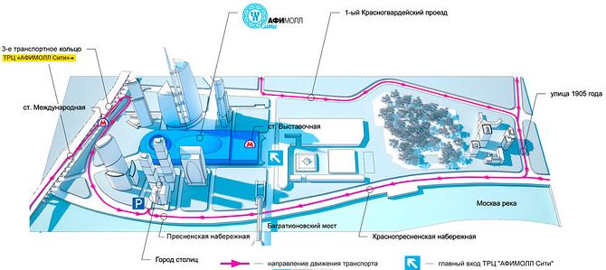 ТРК «АфиМолл Сити», схема