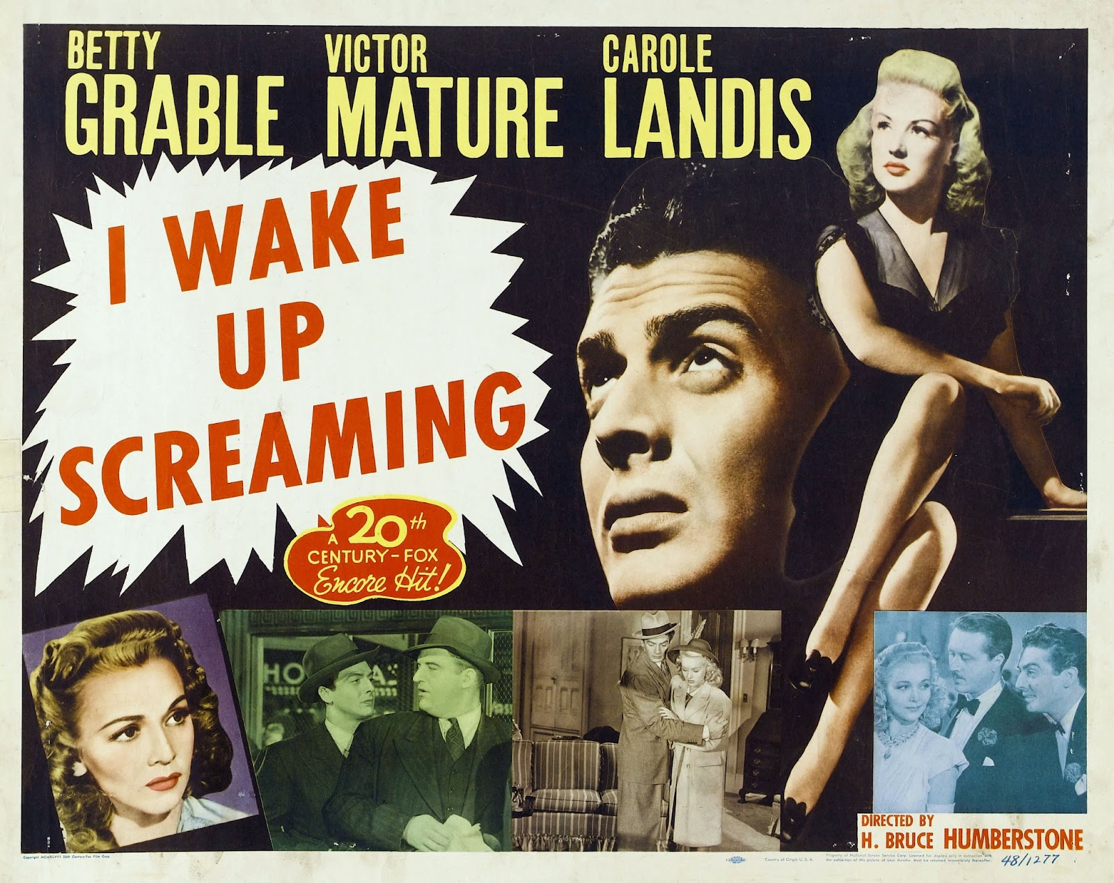 I Wake Up Screaming (1941) | Film Noir of the Week