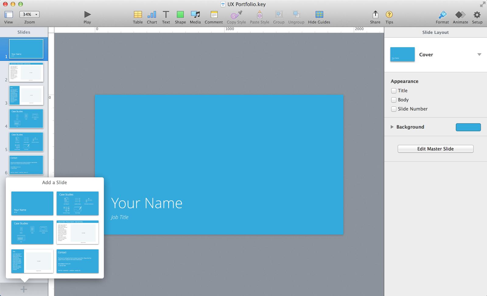 Effluxio—flow, therefore be: UX Design Portfolio Template ...