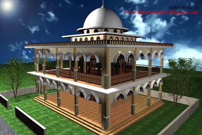 desain masjid & musholla 004 : contoh gambar desain