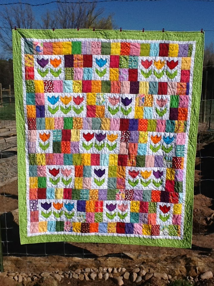 Tanya Quilts In Co Tulip Patch Quilt Finish