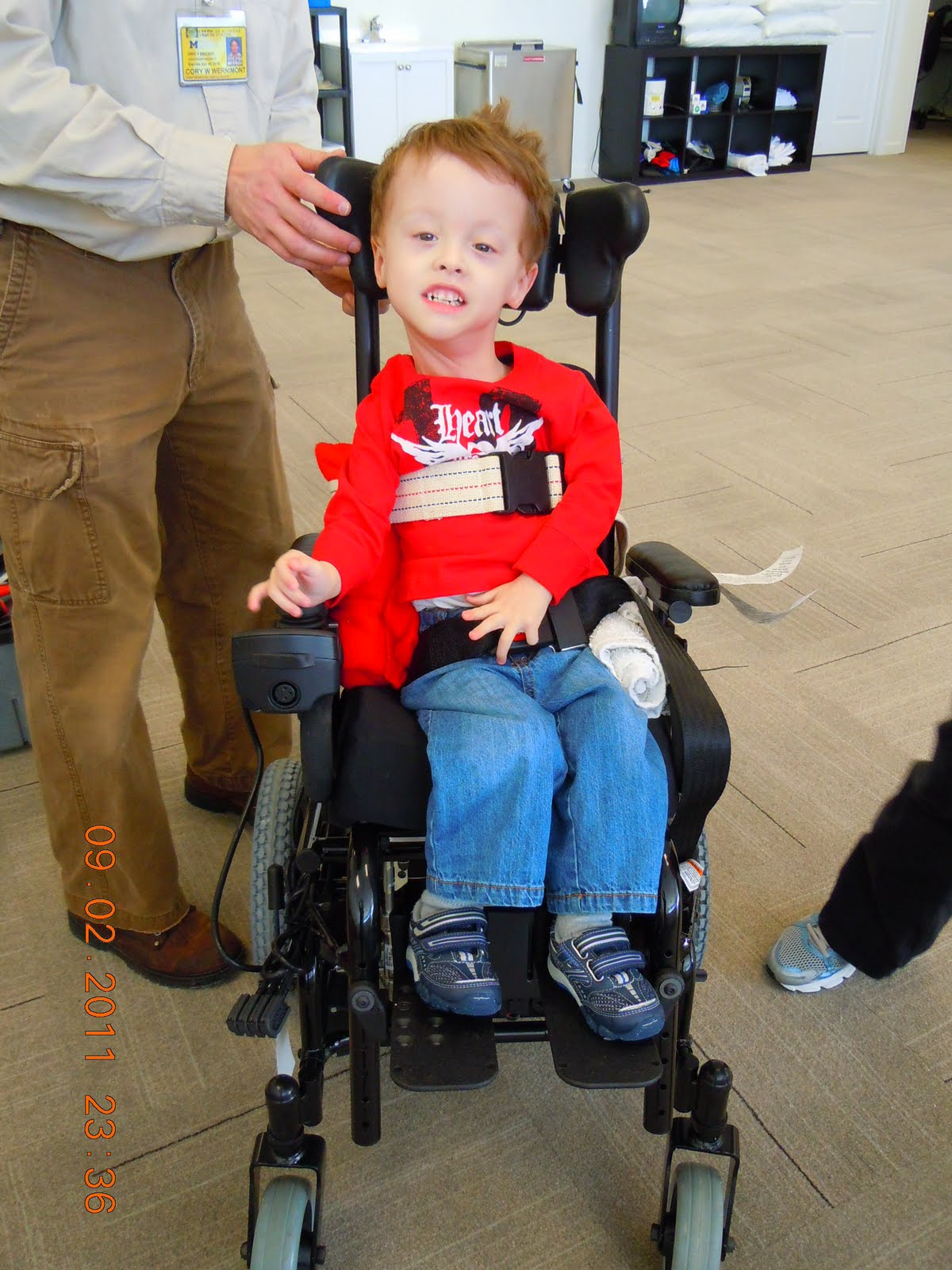Power wheelchair kids - He Is Really Getting The Hang Of His Power Wheelchair We Should Have It In About 3 Months So Now We Are On The Look Out For A