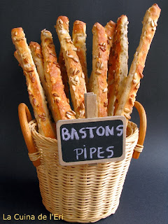 Bastons de pipes salades