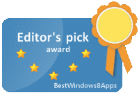 BestWindows8Apps Editors Choice Award