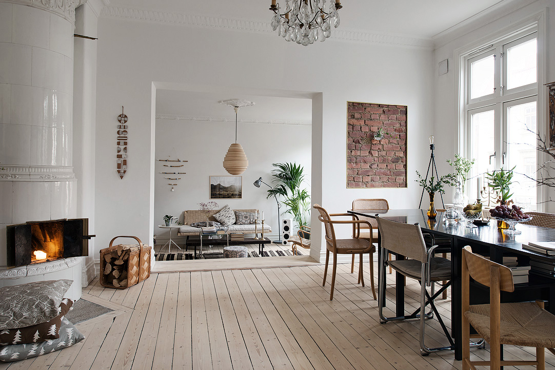 Decordemon delightful swedish apartment with charming decor for Interieur suedois