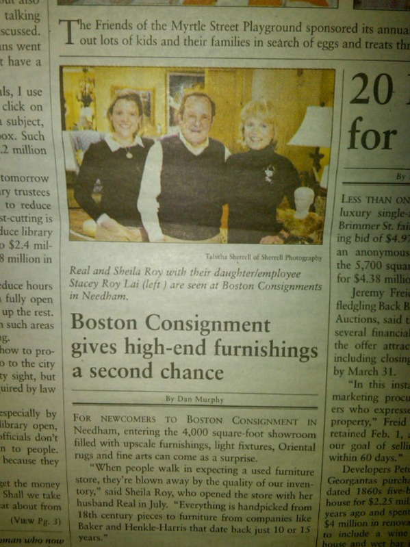 Boston Consignment Click To The Beacon Hill Times By Dan Murphy Boston