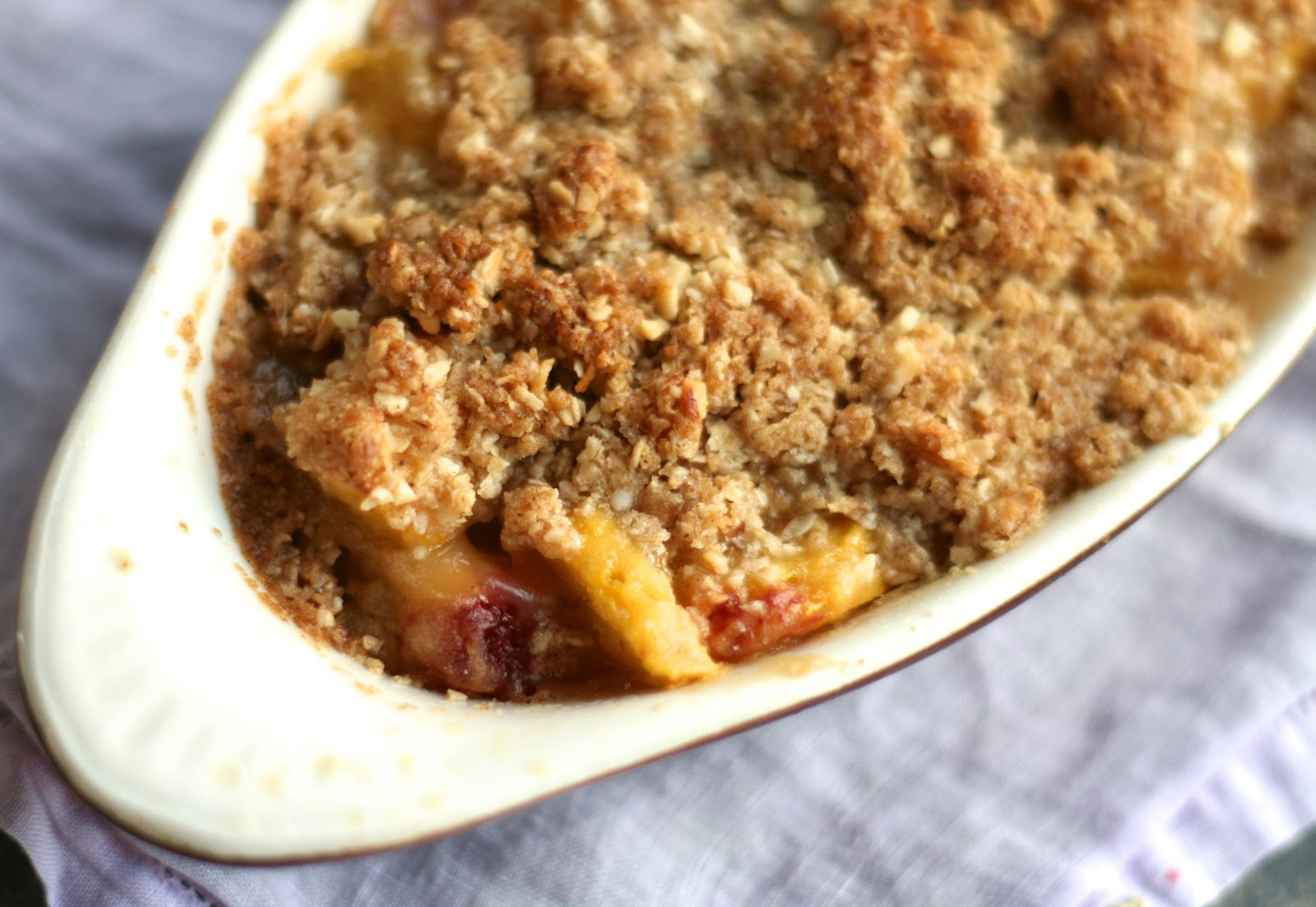 Peach Crisp Recipe — Dishmaps
