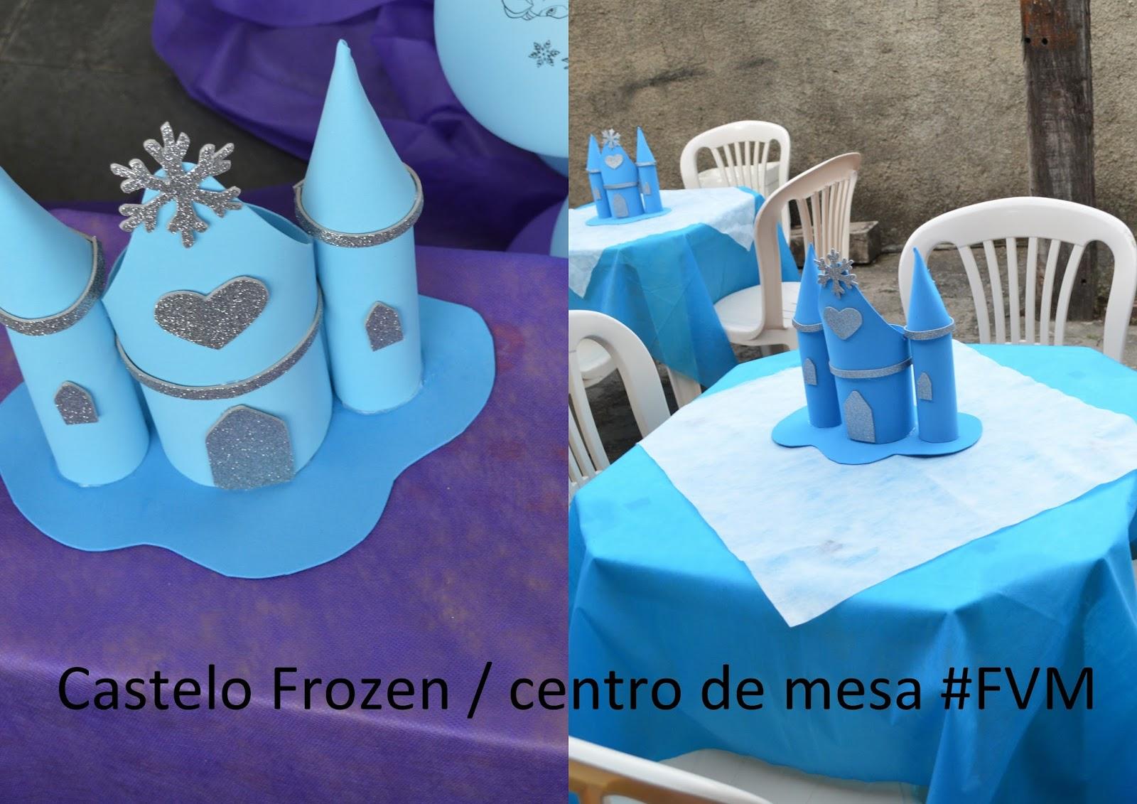 By Sayury Mendes Castelo Frozen Centro De Mesa Fvm Faça Você